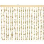 Türvorhang Papiervorhang Makramee Naturfaser Beige 90x200 cm Insektenschutz
