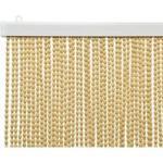 Türvorhang Perlenvorhang Stoffperlen Creme Boho 90x200cm Insektenschutz Vorhang
