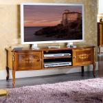 TV Board mit Nussbaum furniert Barock Design