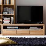 TV Lowboard aus Wildeiche Bianco modern
