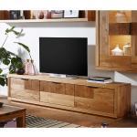 TV Schrank aus Wildeiche Massivholz 3 türig