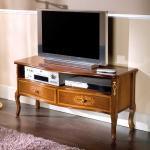 TV Tisch im Barock Style Nussbaum furniert