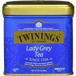 Twinings Lady Grey Tee Dose 100g, Reichhaltige Mischung chinesischer Teesorten mit Orangen- und Zitronenschale, vollendet mit Bergamotte-Aroma. Tea 6er Pack (6 x 100 g)