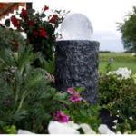 Ubbink AcquaArte Las Palmas Granitsäule Gartenbrunnen Set LED Springbrunnen