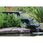Ubbink AcquaArte Nova Scotia 3 Wasserfallschalen Gartenbrunnen Set