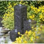 Ubbink AcquaArte Taranto Granitsäulen Gartenbrunnen Set Springbrunnen