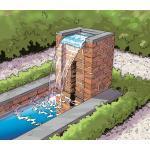 Silberne Ubbink Nevada Gartenbrunnen & Brunnen aus Edelstahl