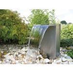 Ubbink VENEZIA LED Edelstahl Wasserfall Set mit Pumpe und Beleuchtung