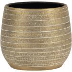 Goldene Runde Pflanzkübel & Blumentöpfe UV-beständig