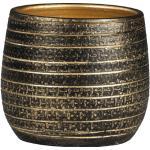 Übertopf innen Passion for Pottery Solano Ton Ø 20 cm H 18 cm schwarz/gold