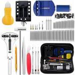 Uhrenreparaturset, 147 professionelle Federstangenreparaturwerkzeuge, Uhrenbatterieersatz-Werkzeugset, Uhrenarmband-Werkzeugsatz mit Tragetasche - Litzee