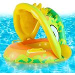 Ulikey Baby Schwimmring, Aufblasbarer Schwimmreifen mit Abnehmbarem Sonnendach, Kinder Schwimmsitz, Baby Schwimmhilfen, Float Schwimmring für Kinder ab 8 Monate bis 48 Monate