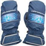 Ultrasport Basic Ski Fäustlinge Starflake, Fausthandschuhe für Kinder mit guter Bewegungsfreiheit, wasserbeständig und winddicht, marine/victoria blau, Größe 8 - 10 J.