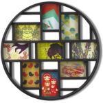 Umbra Luna Bilderrahmen Collage für 9 Fotos – Runde Fotowand für neun 10 x 15 cm Bilder, Fotos, Illustrationen, Grafiken und Mehr, Schwarz