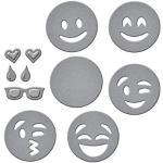 Unbekannt Spellbinders Shapeabilities D-Lites Prägeschablone, Motiv Emojis, Mehrfarbig