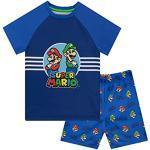 Unbekannt Super Mario Jungen Schlafanzug Mario and Luigi Blau 128