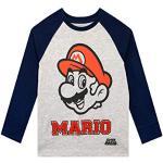 Unbekannt Super Mario Mädchen Langarmshirt Grau 122