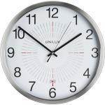 """UNiLUX Wanduhr/Funkuhr """"OUTDOOR"""", Durchm.: 355 mm, silber 3595560025053 (400094566)"""