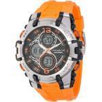 UPhase Unisex Armbanduhr Chronograph Wasserdicht 10 ATM Licht Stoppuhr Orange
