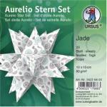 Ursus Faltblätter 34226800 Aurelio Stern Set, Jade, 10 x 10cm, 80g/m², 33 Blatt