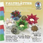 """Ursus Faltblätter """"Sternchen"""", 15 x 15 cm, 100 Blatt"""
