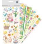 Ursus Sticker 59500002 Pop-up-Sticker Frohe Ostern, verschiedene Ostermotive, 103 Aufkleber