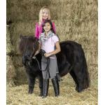 Anthrazitfarbene USG Reithosen mit Vollbesatz für Kinder zum Reiten