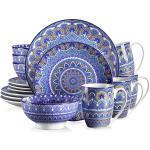 vancasso Kombiservice »MANDALA« (16-tlg), Porzellan, 16 teilig Geschirrset aus Porzellan, blau, 16 tlg. - Tafelservice, Blau