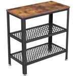 Vasagle Beistelltisch LET33BX, braun, aus Holz / Metall, 60 x 60 x 30cm, rechteckig