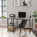 VASAGLE Schreibtisch »LWD47X LWD47MB«, Schreibtisch, Computertisch, Bürotisch, Industrie-Design, greige, grau, Greige