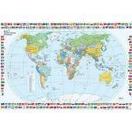 VELOFLEX Schreibtischunterlage Kunststoff Weltkarte
