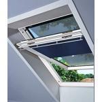 VELUX-Hitzeschutz-Set Nacht M06 SWL Hitzeschutz Plus bestehend aus Verdunkelungsrollo grau mit Netzmarkise zum Einhängen