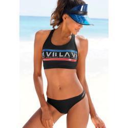 Venice Beach Bustier-Bikini, Mit Logodruck schwarz Damen Bustier-Bikinis Bikinis Damenbademode Bustier-Bikini