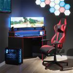 Vicco Gamingtisch »Gaming Desk Schreibtisch Kron Eckschreibtisch Gamer PC Tisch Computertisch«, Ecktisch