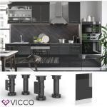 VICCO Geschirrspülerblende 45 cm Anthrazit Küchenzeile Unterschrank Fame