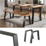 Vicco Loft Tischkufen U-Form 42cm Tischbeine Tischgestell Couchtisch Möbelfüße