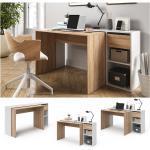 Vicco Schreibtisch Ben Weiß-Sonoma Computertisch ausziehbar Arbeitstisch Bürotisch