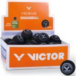 Victor Squashball (blauer Punkt, schnell) schwarz 36er Box