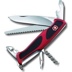 Victorinox Ranger Grip 55 Schweizer Messer, Rot/Schwarz, One Size
