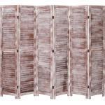 vidaXL 6-tlg. Raumteiler Braun 210×165 cm Holz
