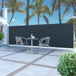 vidaXL Ausziehbare Seitenmarkise 160x500 cm Schwarz