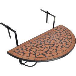 vidaXL Balkonhängetisch Terracotta Mosaik