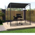 vidaXL BBQ-Pavillon 215x150x220 cm Anthrazit Stahl