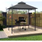 vidaXL BBQ-Pavillon 240x150x255 cm Anthrazit Stahl