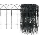 vidaXL Beetzaun Pulverbeschichtetes Eisen 25×0,4 m