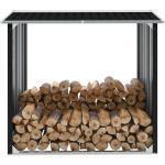 vidaXL Brennholzlager Verzinkter Stahl 172x91x154 cm Anthrazit