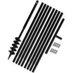 vidaXL Erdbohrer mit Griff 100 mm Verlängerungsrohr 9 m