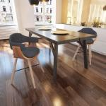 vidaXL Esszimmerstühle 2 Stk. Dunkelgrau Bugholz und Stoff