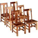 vidaXL Esszimmerstühle 6 Stk. Massivholz