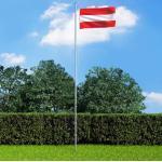 vidaXL Flagge Österreichs und Mast Aluminium 6,2 m